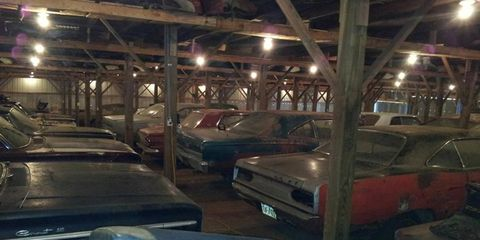 Approximately 40 project cars are said to be inside the main barn.