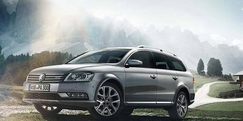 The Passat Alltrack is a softroader version of the station wagon, which is not available in the U.S. or Canada.