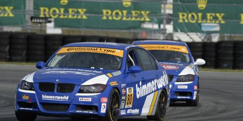 The Bimmerworld sports car team has four cars entered in the Continental Tire Challenge race at Daytona.