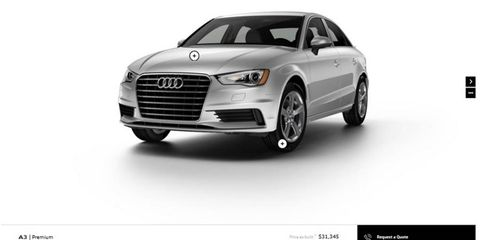 The A3 sedan will be available in three trim levels, with a choice of two engines one of which is coupled with Quattro all-wheel drive.