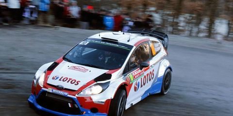Robert Kubica is third after a strong opening day in Monte Carlo.