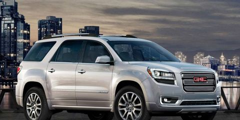 The 2014 GMC Acadia Denali is a great van substitute.