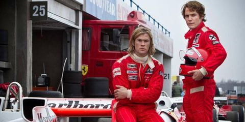 Neither Daniel Bruhl (right) nor Chris Hemsworth was nominated for an Academy Award.
