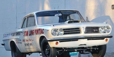 One of two surviving 1963 Pontiac Lemans Super Duty Factory Lightweight Coupes, this car has a fascinating story.