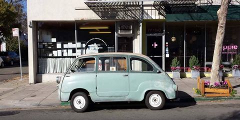 Out for lunch in the Multipla.