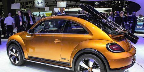 Volkswagen's Beetle Dune Concept premiered at the 2014 Detroit auto show.