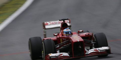 Fernando Alonso drives Ferrari's 2013 car. Ferrari is allowing fans to vote on what to name the 2014 Formula One car.