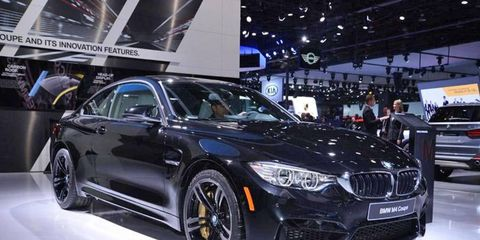 2015 BMW M3 sedan and M4 coupe details from the floor of the 2014 Detroit auto show.