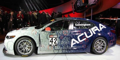 RealTime Racing will field the Acura TLX in the Pirelli World Challenge GT Class. The car was unveiled at the Detroit auto show on Tuesday.