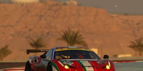 GianCarlo Fisichella competing for Ferrari in Bahrain last year. This year, he will drive in the United SportsCar Championship
