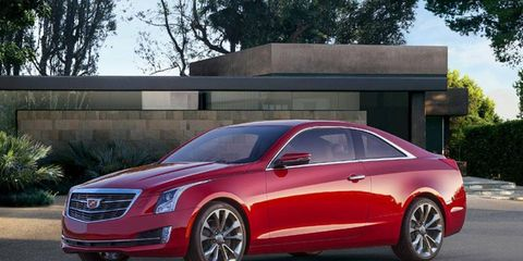 Cadillac showed the ATS Coupe at the Detroit auto show today.