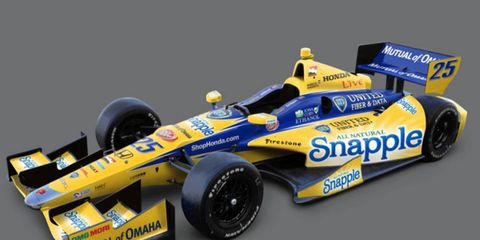Marco Andretti's livery for the 2014 IndyCar Series season was revealed on Monday.