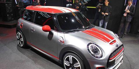 The 2014 Mini John Cooper Works Concept debuts at the Detroit auto show.