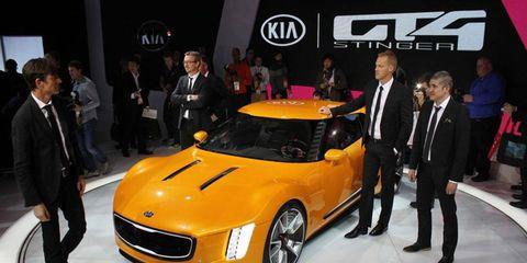 Kia showed off the GT4 Stinger concept at the Detroit auto show.