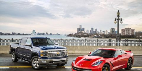 Chevrolet kicked off the first press day of the 2014 Detroit auto show by taking home awards for the North American Car and Truck/Utility of the Year.