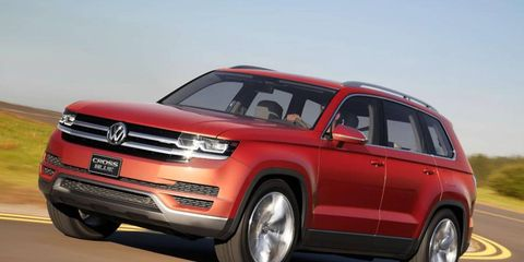 The new VW seven-passenger ute due in 2016 is based on the CrossBlue concept.