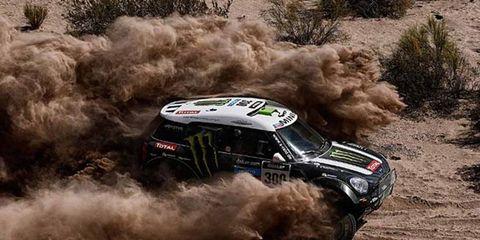 Stephane Peterhansel won the sixth stage of the Dakar Rally on Friday.