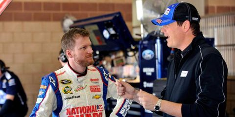 Dale Earnhardt Jr. credits crew chief Steve Letarte, right, for helping Earnhardt regain lost confidence.