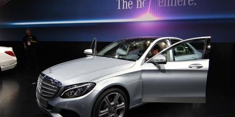The C300 and C400 are expected to be Mercedes' top sellers when they hit showrooms later this year.
