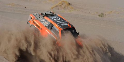 Robby Gordon was third fastest on Thursday's fifth stage at the Dakar Rally, and he moved up to 19th place overall.