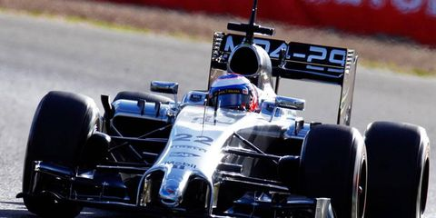 Jenson Button of McLaren was quickest in testing on Day 2 in Jerez.