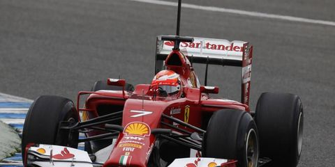 Kimi Raikkonen had a good first outing in his new Ferrari on Tuesday. The Finn had the fastest lap during testing in Jerez, Spain.