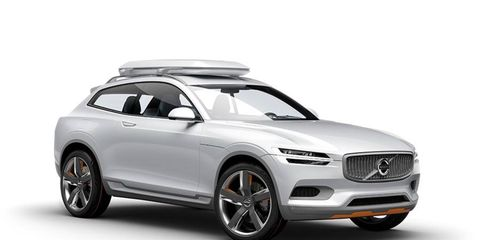 The concept seen here is the size of a crossover, though we expect the upcoming XC90 to retain the basic packaging of the outgoing model.