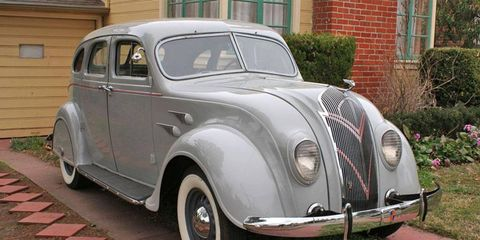 Located in Oakland, Calif., this DeSoto Airflow is offered on eBay in a no-reserve auction.