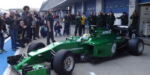 Caterham unveiled its 2014 Formula One car on Tuesday.