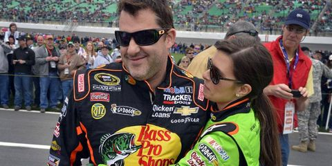 Tony Stewart and Danica Patrick are both currently on the outside of the Chase standings.