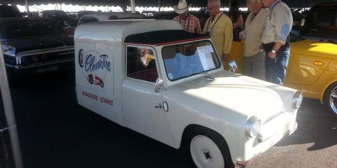 What is it? A 1953 Mochet Micro Panel, of course, at the Arizona collector car auctions.