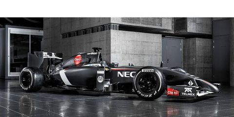 The Sauber C33 that will race in the 2014 Formula One season.