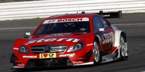 Daniel Juncadella, shown driving in the DTM Championship last year, will be Force India's Formula One reserve driver in 2014.