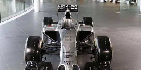 Here's a first look at McLaren's car for the 2014 season. The car was unveiled on Friday in Europe.