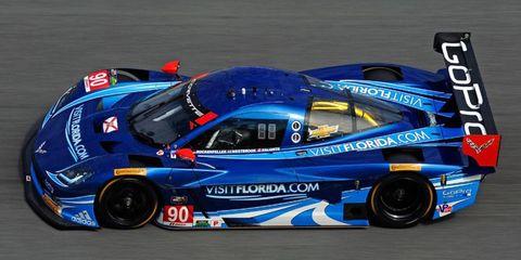 Richard Westbrook put the Spirit of Daytona Corvette on the outside front row in qualifying Thursday for the Rolex 24 at Daytona.