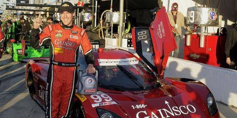 Alex Gurney turned a lap of 1 minute, 38.217 seconds aboard his Riley-Chevrolet Corvette DP on Thursday to win the pole for the Rolex 24.