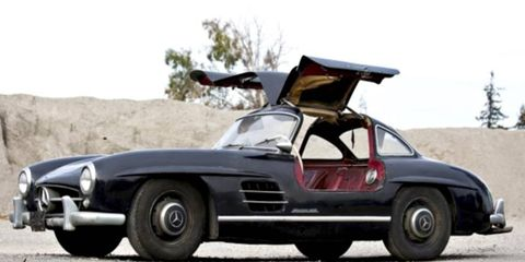 The 1956 Mercedes-Benz 300SL Gullwing from California hadn't been driven in over 30 years.
