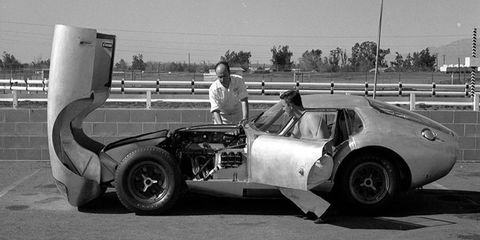 CSX2287, before it was the Daytona Coupe, undergoes tests at Riverside Raceway.
