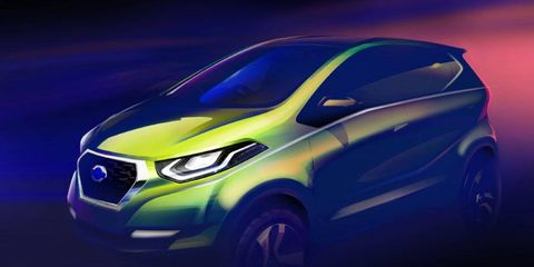 This Datsun will be revealed at the New Delhi auto show in February.
