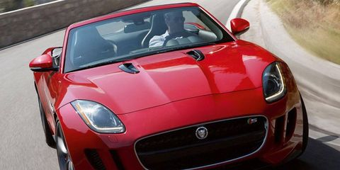 The 2014 Jaguar F-Type V8 S has an amazing exhaust note.