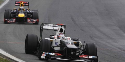 Kamui Kobayashi, shown driving for Sauber in 2012, is coming back to Formula One with Caterham. And he's coming back for free.