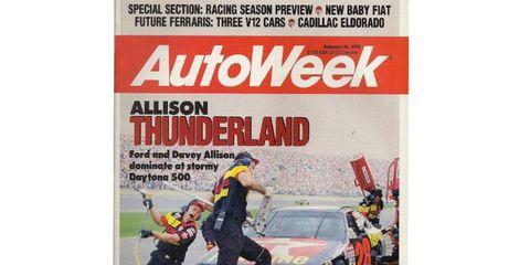 Autoweek chronicles Davey Allison's win at the 1992 Daytona 500.