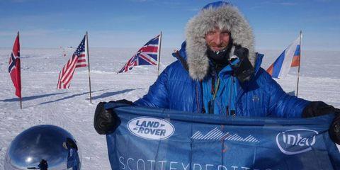 Ben Saunders retraced Captain Robert Falcon Scott's steps to the South Pole.