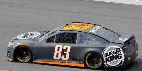 Alex Bowman tested for BK Racing earlier this month at Daytona International Speedway.