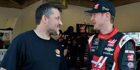 Owner/driver Tony Stewart. left, has had a busy offseason that has included welcoming Kurt Busch to Stewart-Haas Racing.