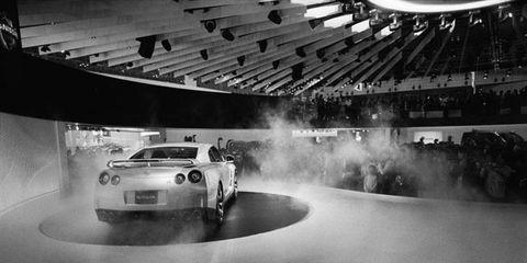 Worldwide Debut, Tokyo, Japan: GT-R on Tokyo Motor Show stage