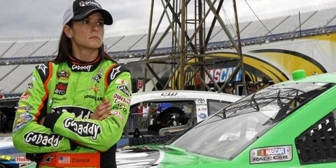 Danica Patrick did not win a single race in the 2013 season and earned pole position only once (Daytona).