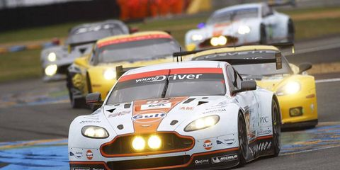 Allan Simonsen, shown driving in the 2013 Le Mans 24 Hours, was killed in a wreck. Earlier this week his partner was given over $400,000 in support from the driver's memorial fund.