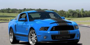 The first 2014 Ford Shelby GT500 Super Snake was delivered to the new Shelby Automotive Museum in Southern California on Dec. 26, 2013. The 850-hp, Grabber Blue pony car wearing chassis number 14SS0010 will take its place among the rest of Shelby's classics, and it will also join the Shelby Registry.