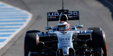 Kevin Magnussen was quickest for Mercedes on Thursday at Jerez.